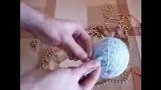 İp ve balondan ev dekorasyon topları nasıl yapılır